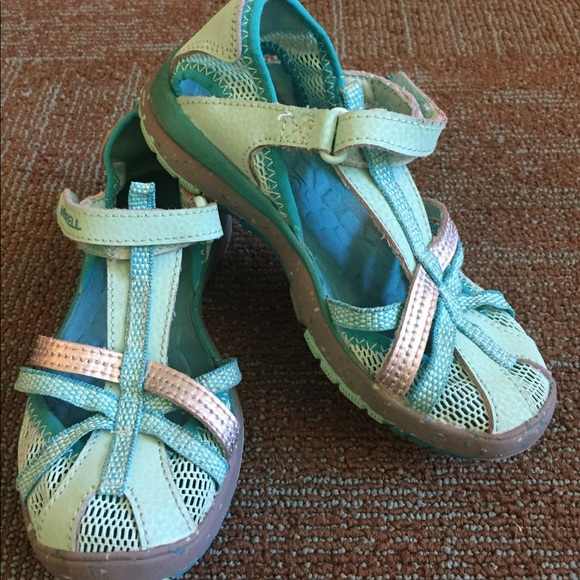 2a7964a2f1e Merrell Shoes | Girls Teal Hydro Monarch Water Sandals | Poshmark